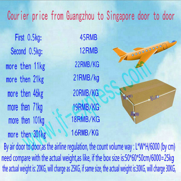 offer the cheapest price from Guangzhou China to Singapore